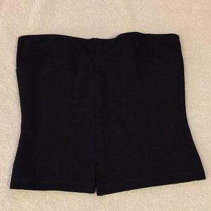 Bebe black strapless top